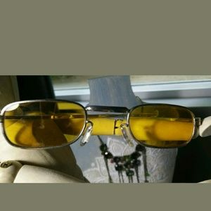 Accessories - Vintage Sunglasses Yellow Steampunk Victorian
